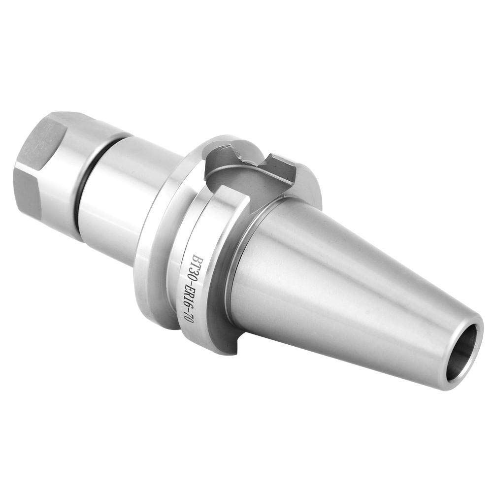 Strong Toughness and Super Wear Resistance Steel High-Speed Collet Chunk Holder CNC Mill Holder 10000rpm High Heat Strength and Oxidation Resistance BT30-ER16-70 Collet Chuck