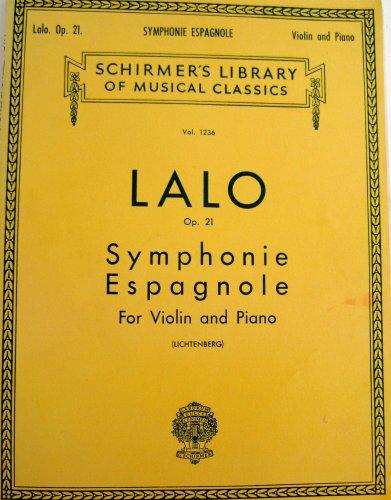Lalo Op. 21 Symphonie Espagnole for Violin and Piano (Schirmer