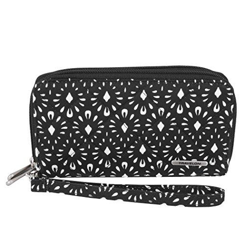 Wristlet Travelon (Travelon Women's Boho Ladies Wallet, Geo Shell)