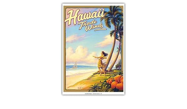Pacifica Island Art Vientos Hawaii-Comercio-bailarín de Hula ...