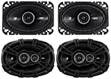 Package: Pair of Kicker 43DSC4604 120 Watt 4x6 2-Way Car Stereo Speakers + Pair of Kicker 43DSC69304 6''x9'' 360 Watt 3-Way Speakers With 4-Ohm Impedance