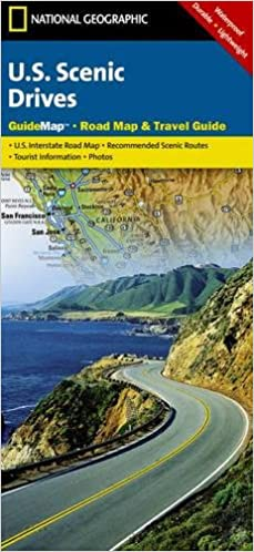 US Scenic Drives National Geographic Guide Map National - Us map geographic image