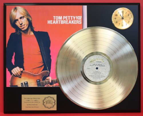 Tom Petty & The Heartbreakers Damn The Torpedoes LTD Edition 24Kt Gold LP Record & Clock Display Quality Collectible from Gold Record Outlet