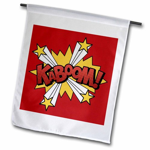 3dRose fl_213411_1 Kaboom Sound Effect in Red Lettering G...