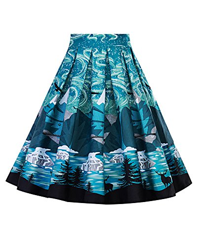 Jupe Jupe Line Femme Style A Rtro Picture 16 Patineuse Imprime Plisss Vintage Floral Jupe As CPWWSTtq