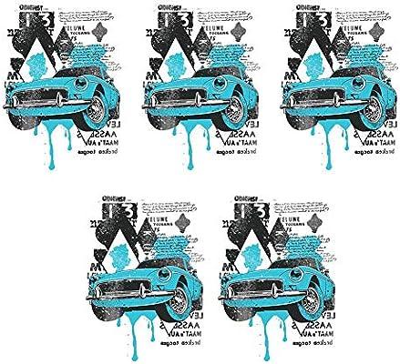 DemiawakingUK 5pcs Heat Transfer Sticker Patches Iron on