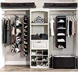 ZOBER 5-Shelf Hanging Closet Organizer - 6 Side
