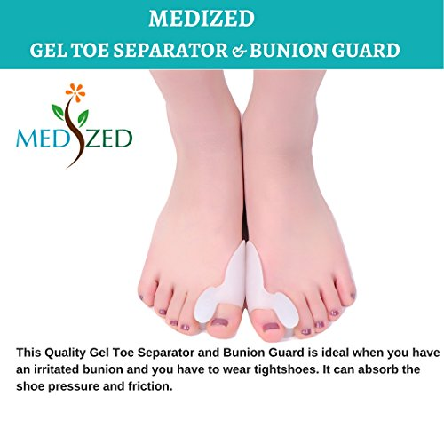 MEDIZED Quality Bunion Splint Pad Toe Hammer Separators Hallux Valgus Protector Bunion Corrector bunion Pads Toe Spacer Bunion Splint Straightener Bunion Bootie by MEDIZED (Image #3)