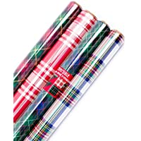 Hallmark Reversible Christmas Wrapping Paper Bundle,...