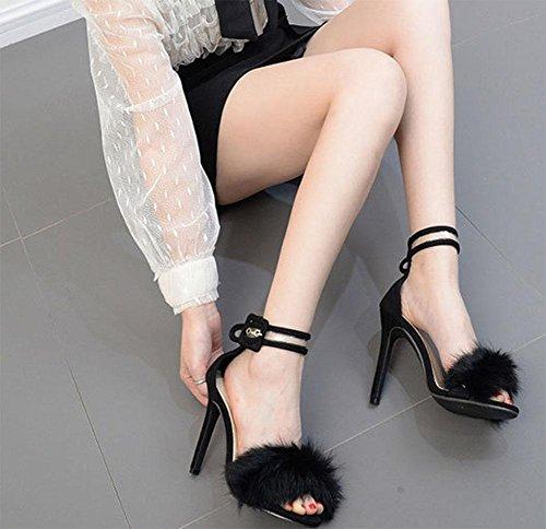 MEILI Dama con una palabra con sandalias huecas 1