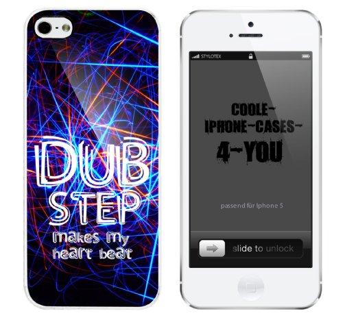 Iphone 5 Case Dub Step makes my heart beat Rahmen weiss