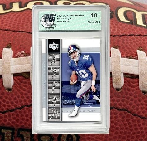 Eli Manning 2004 Upper Deck Rookie Premiere #1 Rookie Card PGI 10 Giants 1 Available Single Deck