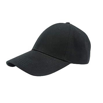 Mens Ladies Orange Low Profile Plain Baseball Cap Sports Leisure Unisex