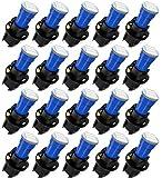 cciyu 20 Pack Blue T5 Wedge 3-3014 SMD LED 74 37