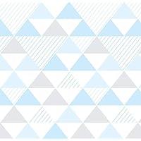 Papel De Parede Para Quarto De Bebê Triângulos 3D