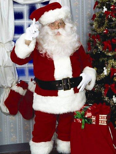 Super Deluxe Santa Suit Costume - (Santa Suit Super Deluxe Costumes)