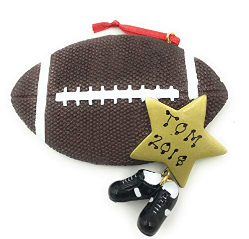 Personalized Sports Football Christmas Ornament 2018 Free -