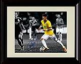 Framed Neymar Autograph Replica Print - Team Brazil Forward