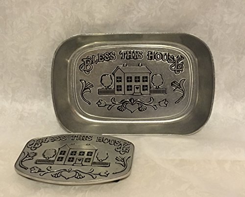 - Bless This House Bread Tray and Trivet Set