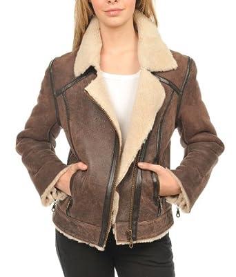 Veste femme peau laine