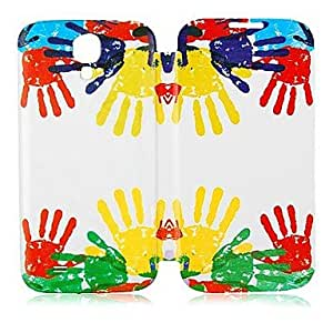 QYF Samsung S4 I9500 compatible Special Design PU Leather Full Body Cases