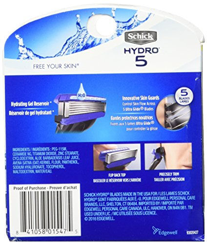 Schick Hydro Sense Hydrate Mens Razor Blade Refill with Hydrate Gel, Includes 12 Razor Blades Refills by Schick (Image #2)