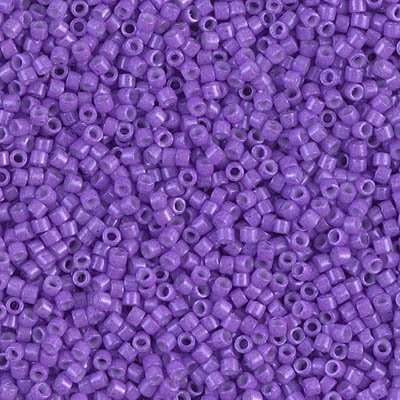 Miyuki Delica 11/0 Cylinder Seed Beads - Dyed Op Red Violet - DB1379 5 grams