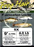 #6: Frog Hair 9ft Fluorocarbon Tapered Leader - Fly Fishing