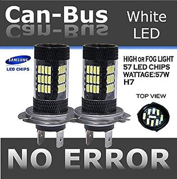 6000k Bright White Renault Clio MK2 II 60 SMD LED H11 Fog Light Bulbs