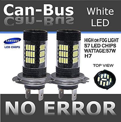 JDM par 57 LED H7 Plasma proyector bombillas Canbus No Error para ...