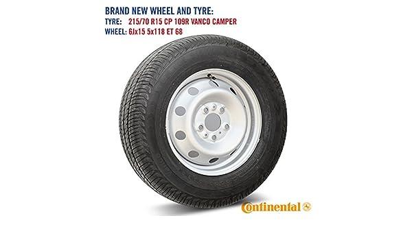 Rueda de repuesto y neumático Continental Vanco Camper para Fiat ...