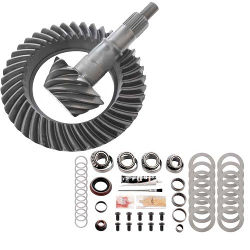 4.56 RING AND PINION /& MASTER BEARING INSTALL KIT COMPATIBLE WITH FORD 8.8 IFS FRONT