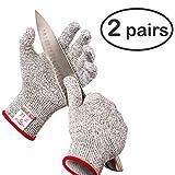 HereToGear Cut Resistant Gloves, 2Pack M Size, FDA