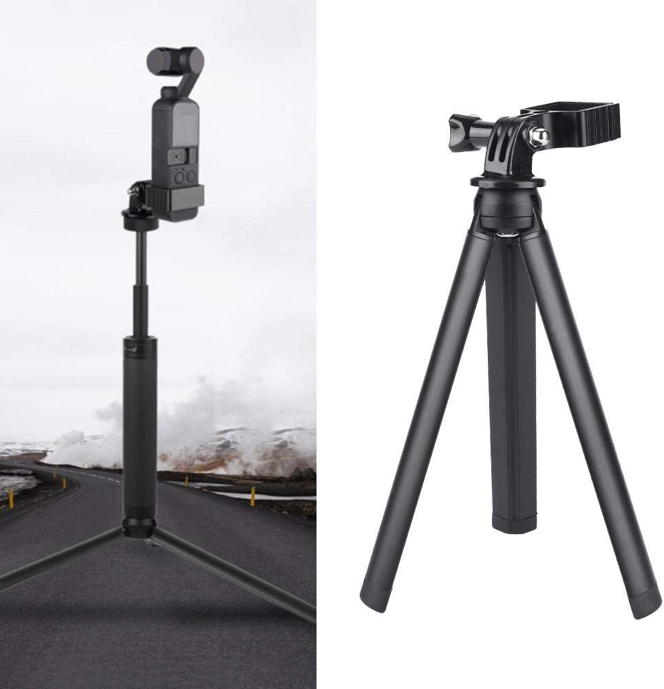 Video Oumij OP-Q9193 Selfie Stick Tripod with Stand Clip Mount Adapter Self Timer with Foldable Tripod for OSMO POCKE Action Camera Suitable for Selfies Photography