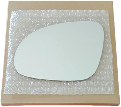 CAR MIRROR BAZAR New Replacement Mirror Glass with FULL SIZE ADHESIVE for Volkswagen Jetta Passat EOS GTI Rabbit R32 Driver Side View Left LH