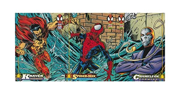C88 Fleer 1994 Amazing Spiderman # 16 Vulnerable To Fire Trade Card