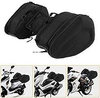 wasserdicht Motorrad-Satteltasche 1 Paar Motorradtaschen aus Oxford-Stoff maximale Kapazit/ät 29 l pro Seite Seitentaschen