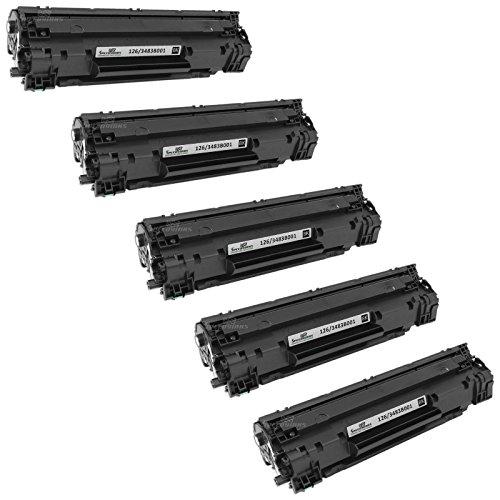Speedy Inks - 5pk Compatible Canon 126 3483B001 Black Toner For use in ImageClass LBP6200d, & ImageClass LBP6230dw