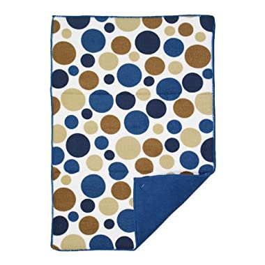 Ritz Polka Dot Reversible Microfiber Dish Drying Mat, Federal Blue