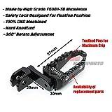 Black CNC 40mm Adjustable Riser Front Touring
