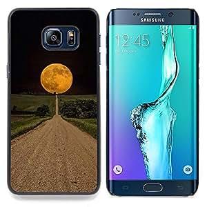 Stuss Case / Funda Carcasa protectora - Camino Esperanza Negro Campo Noche - Samsung Galaxy S6 Edge Plus / S6 Edge+ G928