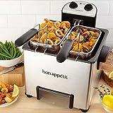 Bon Appetit BADFR010 1800 Watt Dual-Zone Triple-Basket Immersion...