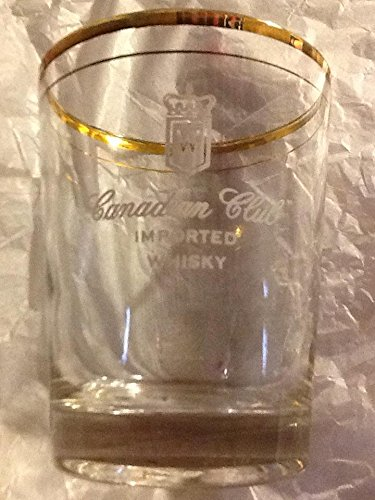 Set of 4 Canadian club whisky glasses