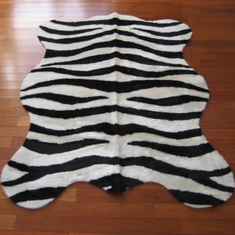 Walk on Me Rugs Faux Zebra Skin Bold Stripe Rug (2'3 x 3'7)