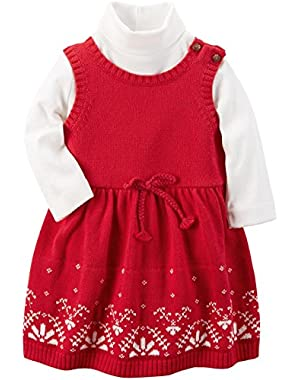 Baby Girls' 2-Piece Knit Jumper Set