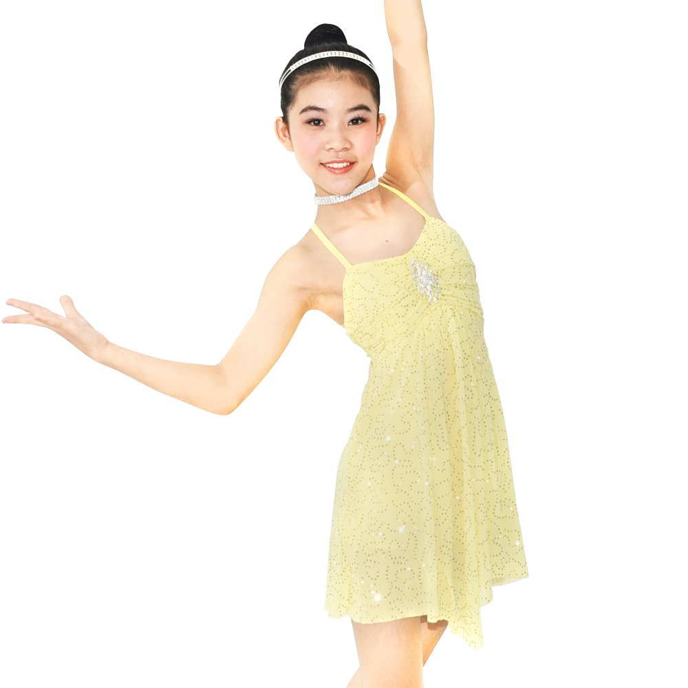7cd7e991f4cf7 Spandex Fabric Modern Dance Costumes Lyrical Dress, Sole Performance Stage  Dress. Camisole dress pleated bust with center front pinch attached  rhinestone ...