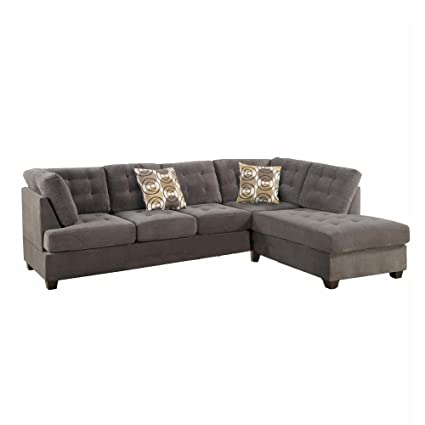 Amazon.com: Benzara BM168572 Luxurious Corduroy Sectional ...