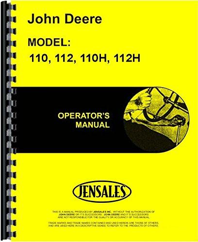 John Deere 110 110H 112 112H (SN#161772-185000)Lawn & Garden Tractor Operators ()