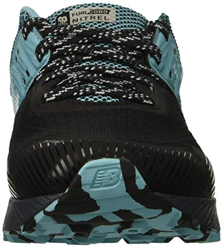 New Balance Women's Nitrel V2 FuelCore Trail Running Shoe Black/Thunder/Enamel Blue 5 B US by New Balance (Image #4)