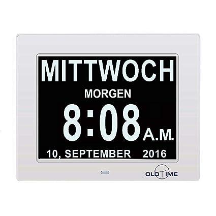 """KSD 8"""" LCD Reloj Digital Calendario con Fecha, Reloj Calendario con Fecha, Día"""
